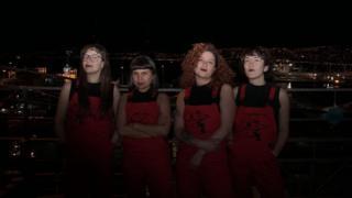 As quatro integrantes do coletivo Las Tesis