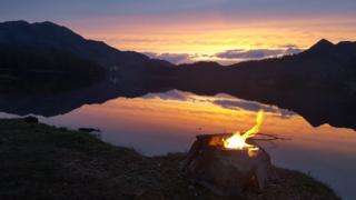 Neil MacNicol took this photo overlooking Loch Achray. He says he spent the night there in his campervan.