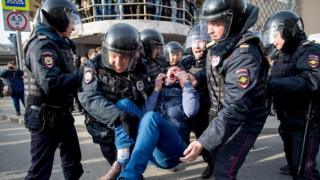 Арешти під час протестів у Росії