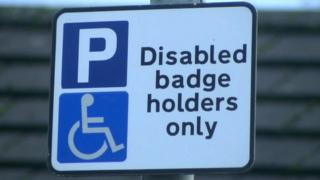 Disabled badge sign