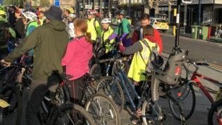 Extinction Rebellion protest in Newcastle