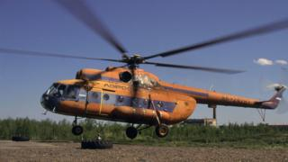 Ces types d'hélicoptères assurent le transport des passagers dans les zones éloignées en Russie.