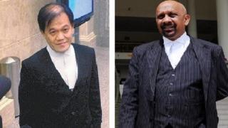 Hai luật sư Hisyam Teh Poh Teik (trái) và Naran Singh (phải)
