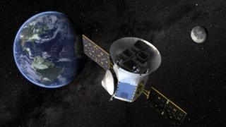 Illustration of the Tess spacecraft
