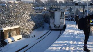 Train at Strood railway station