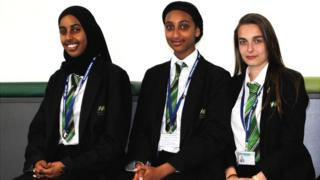 GCSE students in uniform