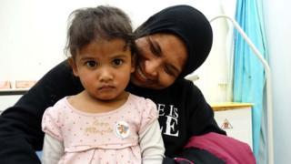 Kalsoom Khairuddin with her mother Khaireen
