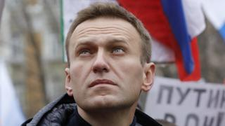 Russian opposition leader Alexei Navalny attends a rally in Moscow, Russia February 24, 2019