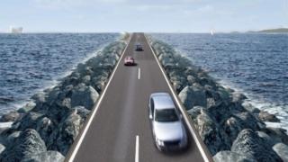 Artist's impression of the Bay Barrage
