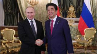 Владимир Путин и Синдзо Абе