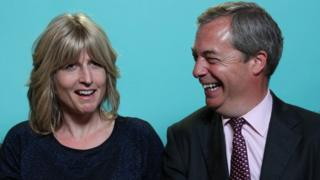 Rachel Johnson and Nigel Farage
