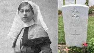 Nellie Spindler and her grave