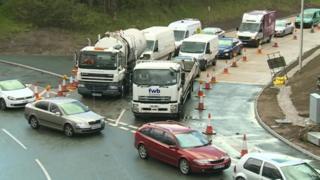 Roadworks in Queenferry