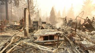مقامهای محلی میگویند شهر پارادیزو ویران شده است.