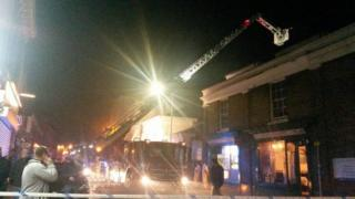 Picture of the blaze in Faversham