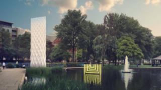 Solar Gate sculpture design