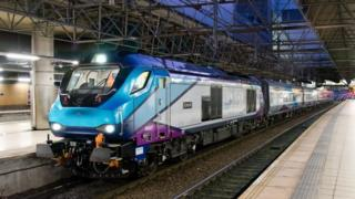 TransPennine Express train at Manchester Victoria