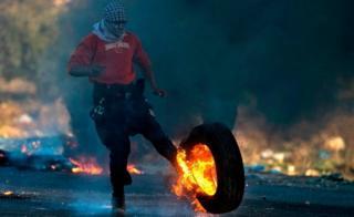 Siku ya Jumamosi kulishuhudiwa ghasia katika mji wa Nablus, West Bank