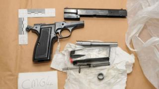 Dismantled gun