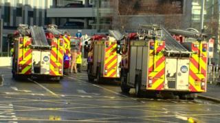 Fire engines at Edinburgh airport