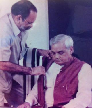 अटल बिहारी वाजपेयी के साथ शिव कुमार