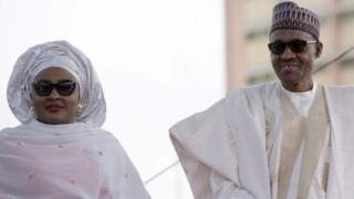 Rais Muhammadu Buhari na mkewe