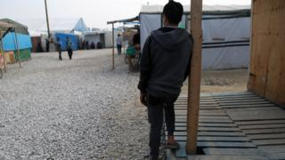 Child at the Calais migrant camp