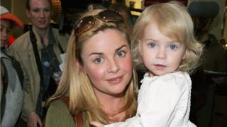 Gail Porter and daughter Honey