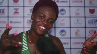 Nigerian athlete Oluwatobiloba Amusan on Thursday win di women 100m hurdles with 12.86 seconds for di African Senior Athletics championship wey dey happun for Asaba.