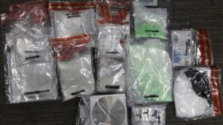 Drugs confiscated by police