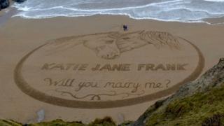 The sand art
