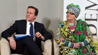 David Cameron and Camila Batmanghelidjh