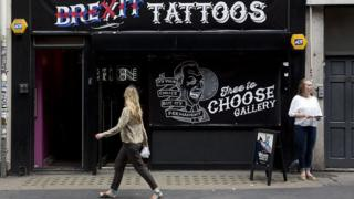 Brexit tattoo shop