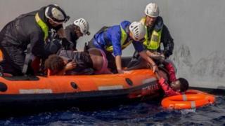 Des milliers de migrants ont été secourus en Méditerranée en 2017.