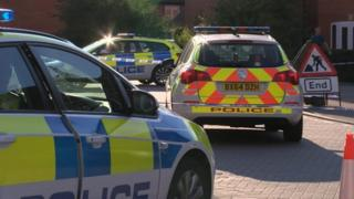 Police car at Hillcrest Drive, Loughborough
