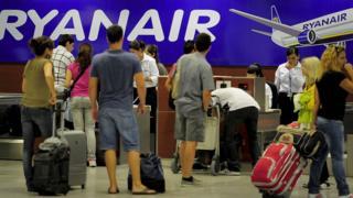 Ryanair 机场柜台