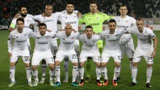 Qarabağ futbol klubunun komandası (7 noyabr 2016).
