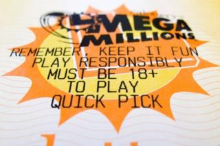 A New Jersey state lottery Mega Millions ticket