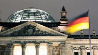 Vista del Parlamento alemán