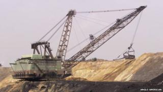 Anglo American's New Vaal coal mine in South Africa