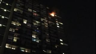 The fire at Trellick Tower