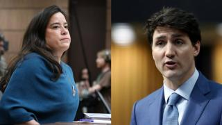 Jody Wilson-Rabould (left) and Justin Trudeau