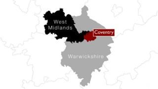 Map of West Midlands