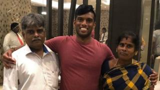 Avinash with his family