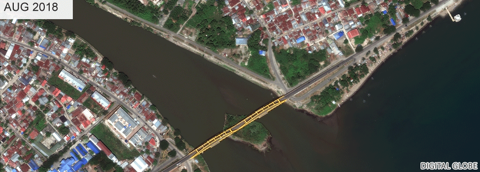Jemalam bridge before the tsunami