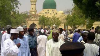 Des fidèles musulmans au Nigeria