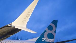 LXCHARXaile du premier avion de ligne Boeing 737 Max, photographiée en 2015