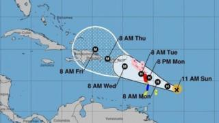 "Траектория урагана ""Мария"""