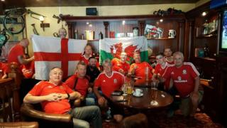 Peter and Welsh fans