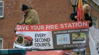 Fire protest in Lincoln